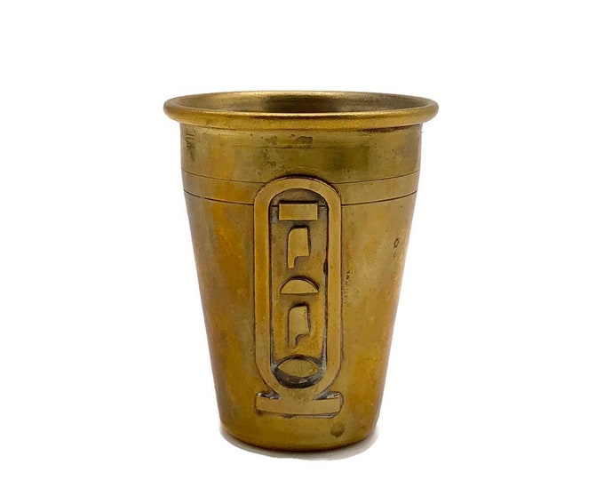 Vintage Brass Shot Glass