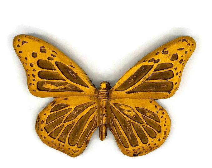 Vintage Yellow Butterfly