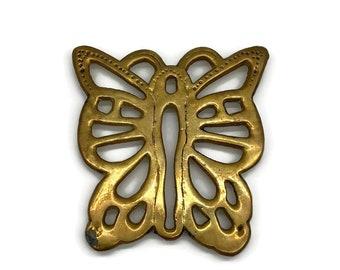 Vintage Brass Butterfly Trivet