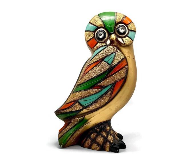 Vintage Large Mid Century Modern Owl Ceramic Statue