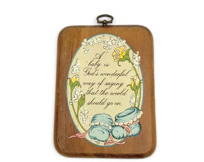 Vintage Baby Wall Plaque