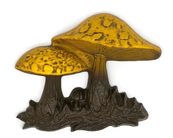 Vintage Yellow Mushrooms for the Wall