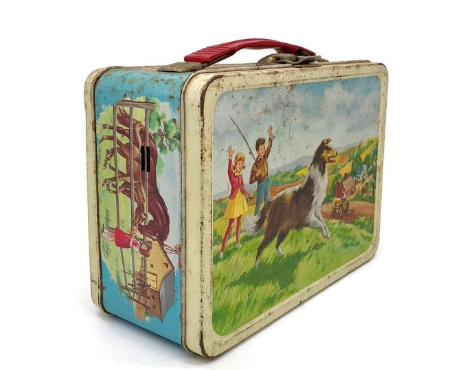 Vintage Thermos Lassie Metal Lunchbox from the 1960s