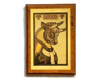 Vintage Taurus Plaque