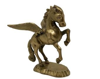 Vintage Brass Pegasus Statue