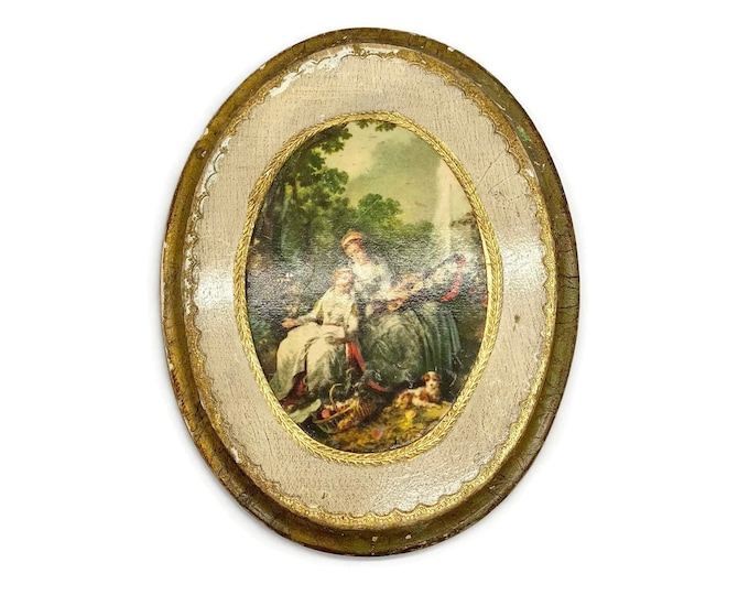 Vintage Florentine Fiorentina Italian Plaque Wall Décor - Italian Artwork - Italian European Art - Eclectic Décor Gallery Wall
