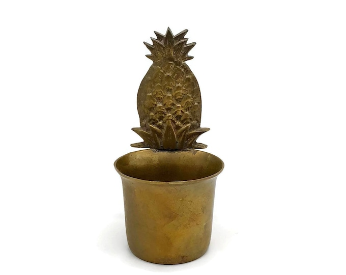 Vintage Brass Pineapple Candle Votive Cup