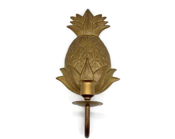 Vintage Brass Pineapple Wall Sconce