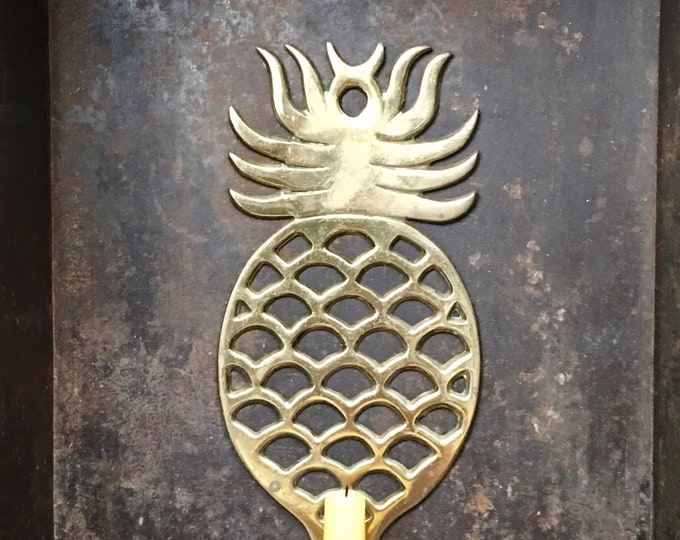 Vintage Brass Pineapple Sconce