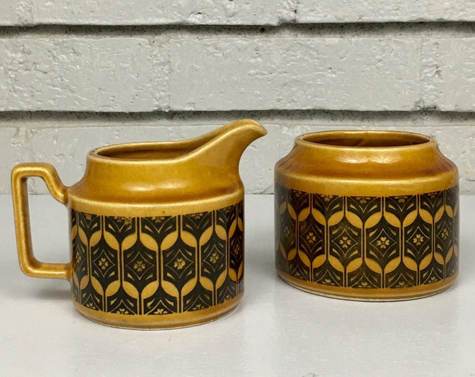 Vintage Royal Sealy Mid Century Modern Japan Import Ceramic Coffee Cream and Sugar // Housewarming Gift