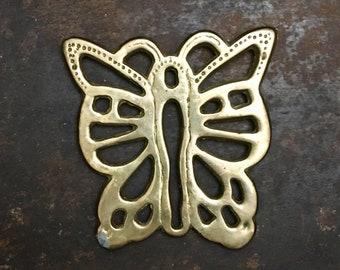 Brass Butterfly Vintage Trivet Coaster