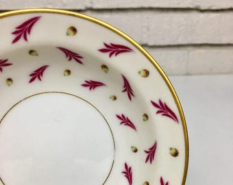 Vintage Set of 4 Coronation Fruit Dessert Sauce Bowl // Pink and Gold Regal China Occupied Japan // Eclectic Table Décor Design