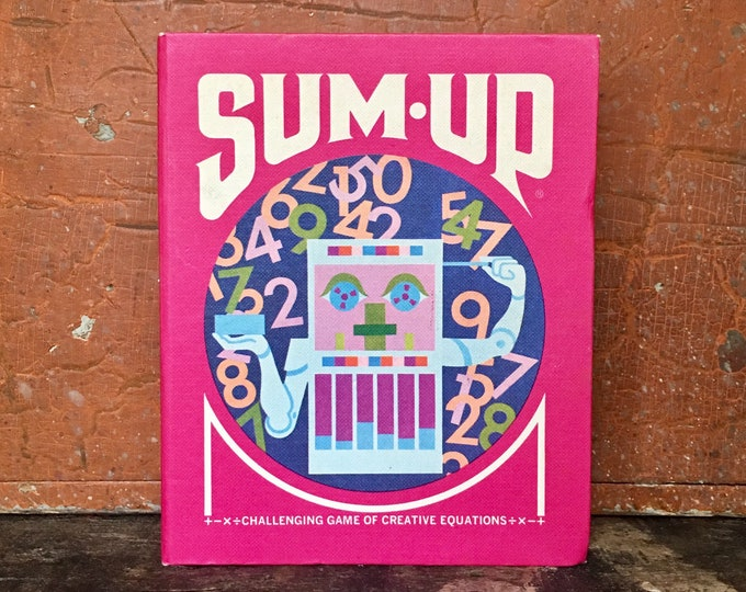 Vintage 1970s Sum Up Game // Sum Up Challenging Game of Creative Equations // Math Game Toy