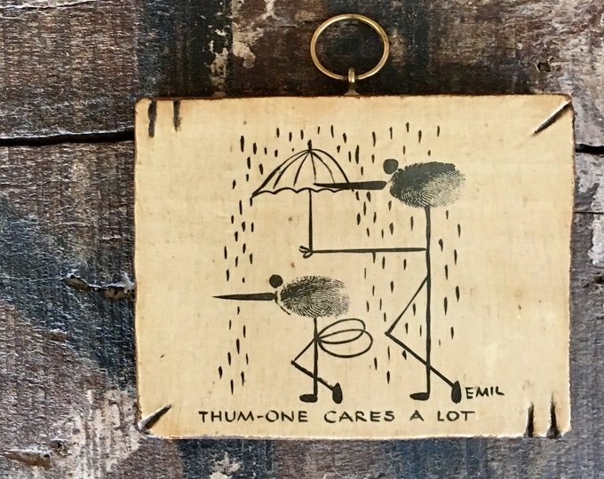 Vintage Thumbprint Wall Plaque
