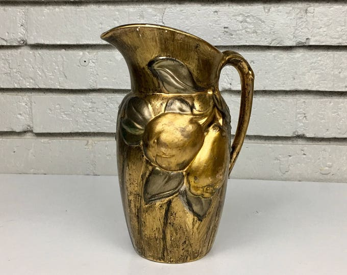 Vintage Fruit Ceramic Pitcher by Holland Mold