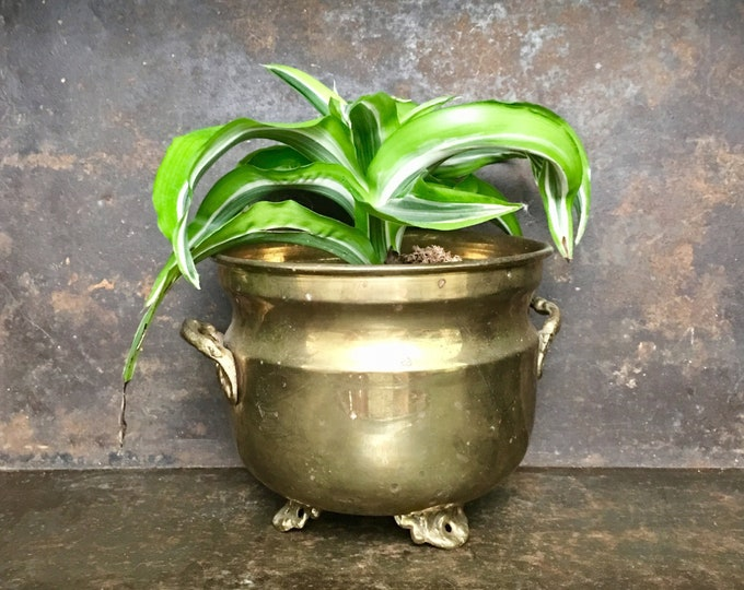Small Vintage Brass Planter