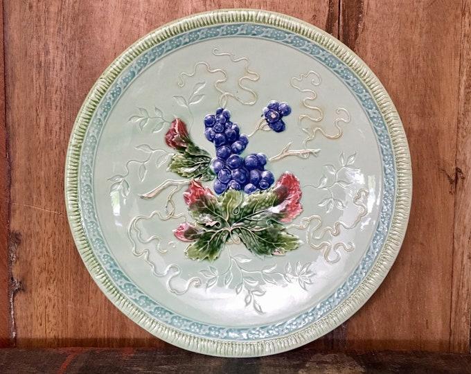 Vintage Majolica Large Plate