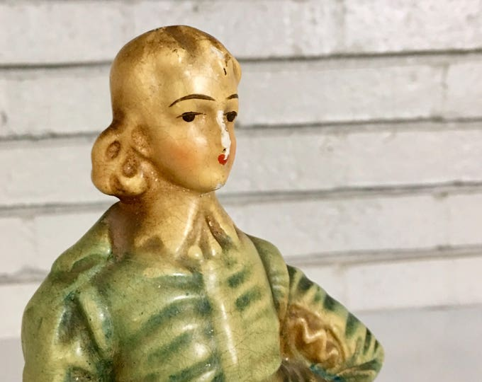 Vintage French Chalkware Statue