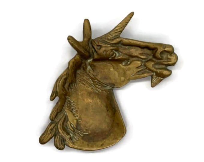 Vintage Brass Unicorn Jewelry Catchall Dish - Unicorn Decor for Girl Bedroom Nursery - Unicorn Gift - Unicorn Head - Unicorn Bowl