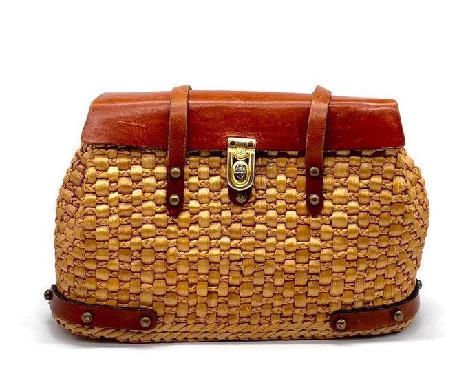 Vintage John Romaine Straw Handbag from the 1950s/1960s