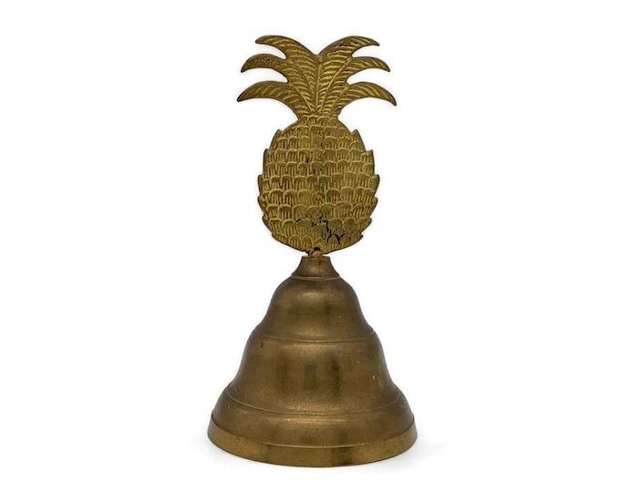 Vintage Brass Pineapple Bell - Brass Desk Accessory - Housewarming Gift Pineapple