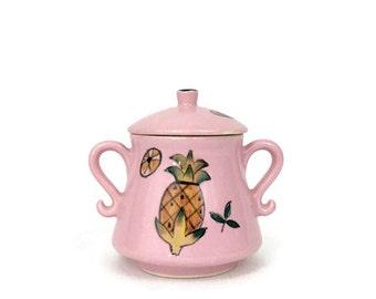 Vintage Small Pink Sugar Bowl