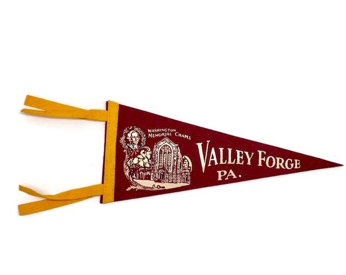 Vintage Pennant - Pennant Flag - Pennsylvania Pennant Flag - Valley Forge Pennsylvania Pennant Flag - PA Memorabilia - Travel Souvenir