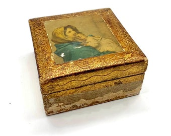 Vintage Florentine Italian Wooden Box