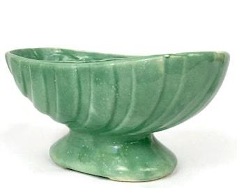 Vintage Mint Green Ceramic Planter