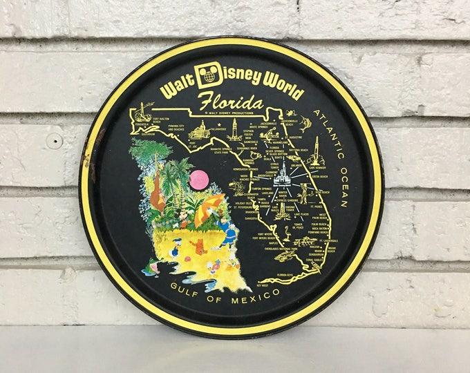 Vintage Walt Disney World Souvenir Tray