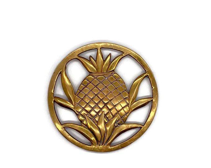 Vintage Brass Pineapple Trivet - Housewarming Gift - Pineapple Wall Decor - Brass Pineapple Kitchen Decor - Brass Trivet - Pot Rest