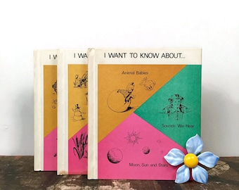 """Vintage Set of 3 Children's """"I Want To Know About Books"""""""