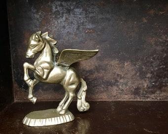 Vintage Brass Pegasus Statue Mythical Creature Greek Mythology