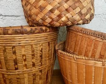 Vintage Natural Basket Collection