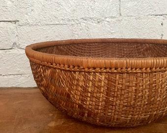 Vintage Woven Gathering Basket