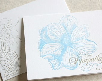 I Am Here For You- Letterpress Printed Single Blank Card