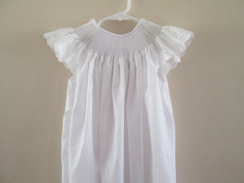 Ready-To-Smock Girl/'s Bishop Style Dress with Angel Sleeves Custom Made