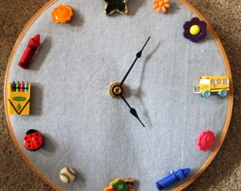 Button Clock for Child's Room