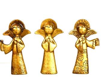Vintage Christmas Mod Angel Ornaments Set of Three