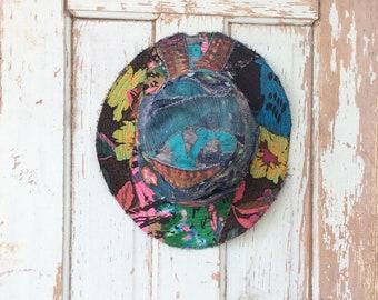 Colorful Bricolage Handmade Hat Unique Statement Accessory