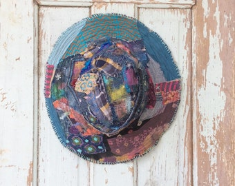 Boho Patchwork Hat for the Free-Spirited