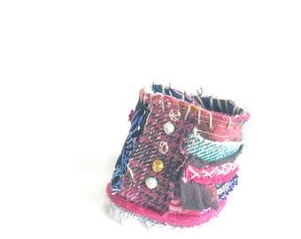Boho Bracelet Handmade Recycled Textiles