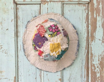 Handmade Patchwork Upcycled Hat