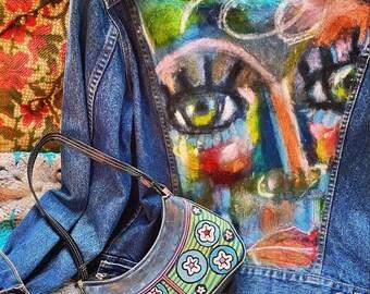 Painted Levi Strauss Jean Jacket