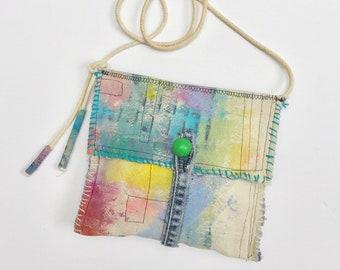 Painted Phone Bag, Little Crossbody Purse