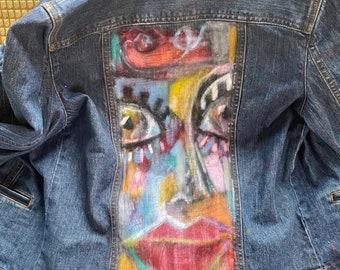 Painted Jean Jacket Original Design