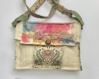 Artsy Crossbody Bag, Recycled  Materials