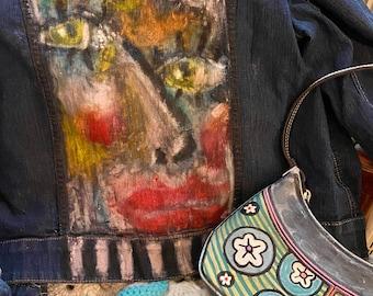 Handpainted Jeans Jacket