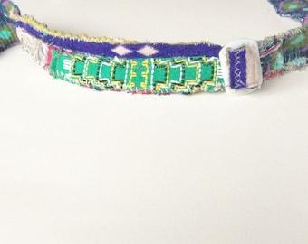 Green Handmade Headband Upcycled Fashion