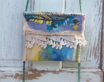 A Mermaids Bag Handmade Upcycled Whimsical Bag Wearable Art